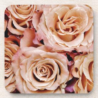roses-366170 dusty light coral pink natural petals coasters