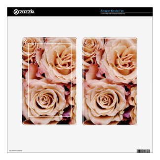 roses-366170 dusty light coral pink natural petals kindle fire skin