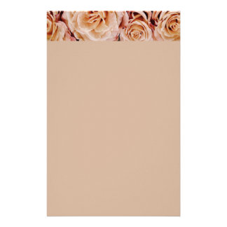 roses-366170 dusty light coral pink natural petals personalized stationery
