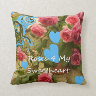 Roses 4 My Sweetheart. Throw Pillow