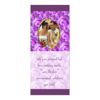 Roses 4x9.25 Paper Invitation Card