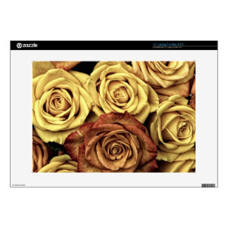 roses-66527 DRIED ROSES NEUTRAL CREAM YELLOW FLOWE Laptop Skin