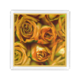 Roses Square Serving Trays
