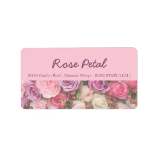 Roses address label by Therosegarden