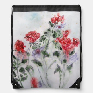 Roses after rain cinch bag
