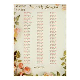 Roses alphabetical seating chart