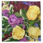 Roses_ amarillo servilletas imprimidas