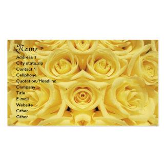 Roses_ amarillo tarjetas de visita