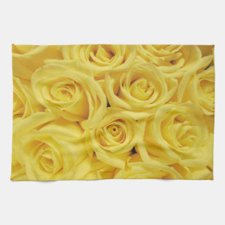Roses_ amarillo toallas de cocina