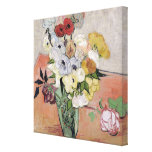 Roses and Anemones, 1890 Gallery Wrap Canvas