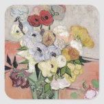 Roses and Anemones, 1890 Square Sticker