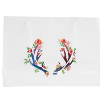 Roses and Antler Large Gift Bag