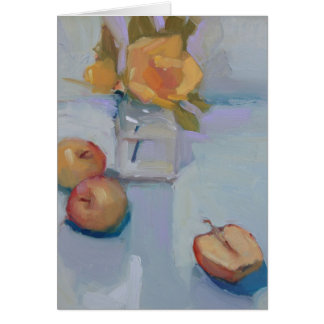 Roses and Apples - Still Life Oil Painting Card