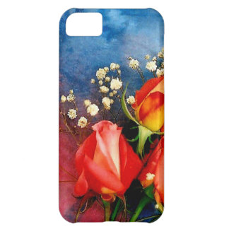 Roses and Baby Breath Case For iPhone 5C