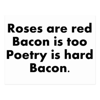 Roses and Bacon Postcard