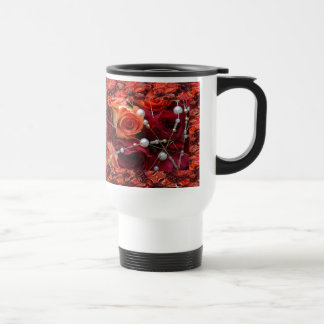 Roses and beads travel mug