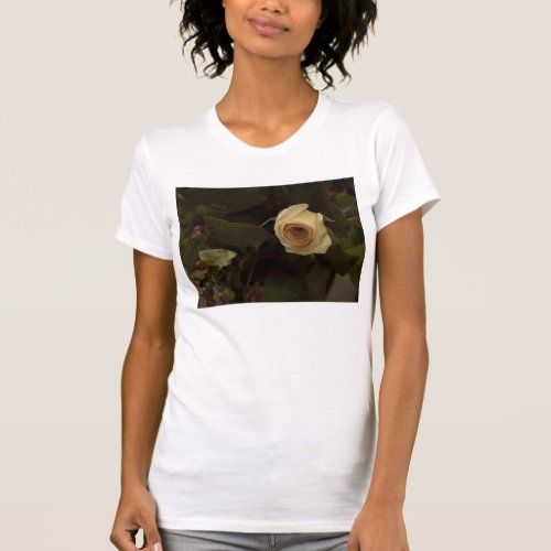 Roses and Berries - Pink Peace Rose T-Shirt