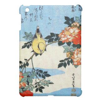 Roses and Bird, Hokusai Cover For The iPad Mini