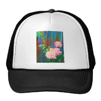 Roses and blue Fence Trucker Hat