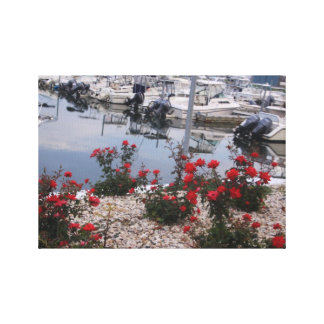 Roses and Boats Canvas Print