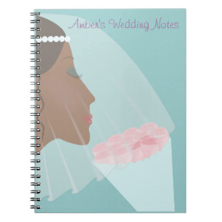 Roses and Bride Wedding Notebook