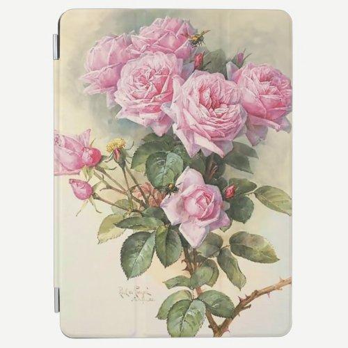 Roses and Bumblebees Paul de Longpre Fine Art iPad Air Cover