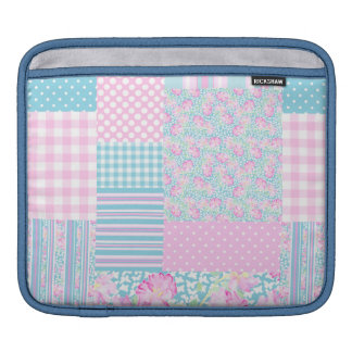 Roses and Butterflies, Faux Patchwork iPad Sleeve