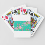 Roses and Butterflies Ornament 3 Bicycle Playing Cards