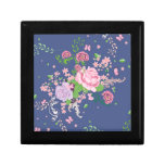 Roses and Butterflies Ornament 4 Keepsake Box