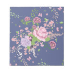 Roses and Butterflies Ornament 4 Notepad