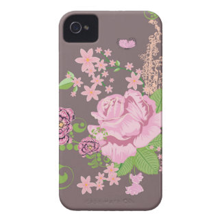 Roses and Butterflies Ornament iPhone 4 Case-Mate Case