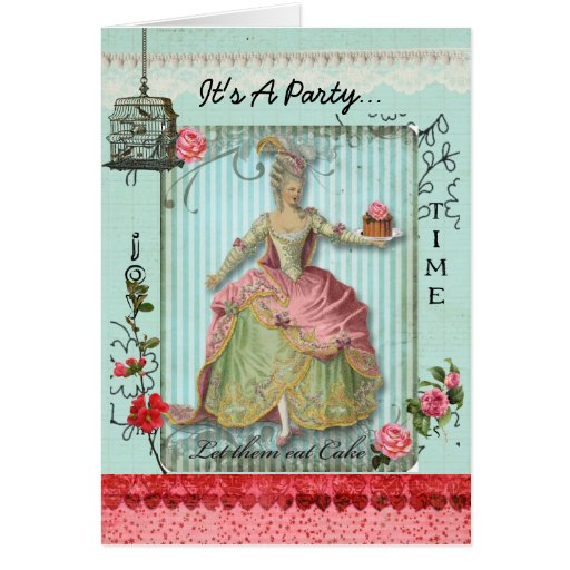 Roses and Cake Invitation Card
