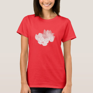 Roses and Crystals - Pink T-Shirt