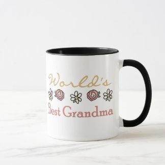 Roses and Daisies World's Best Grandma  Mug