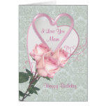 Roses And Hearts -  Birthday Card For Mom at Zazzle