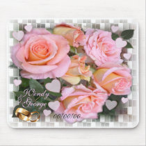 Roses and Hearts ~Wedding  Mousepad