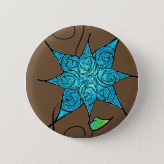 Roses and Ice Pinback Button