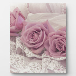 Roses And Lace Still Life Plaque