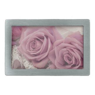 Roses And Lace Still Life Rectangular Belt Buckle