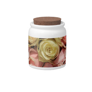 Roses and lathyrus by The Rose Garden Candy Jars