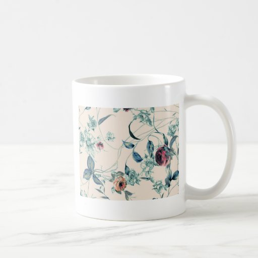 Roses and Leaves 3 Coffee Mug
