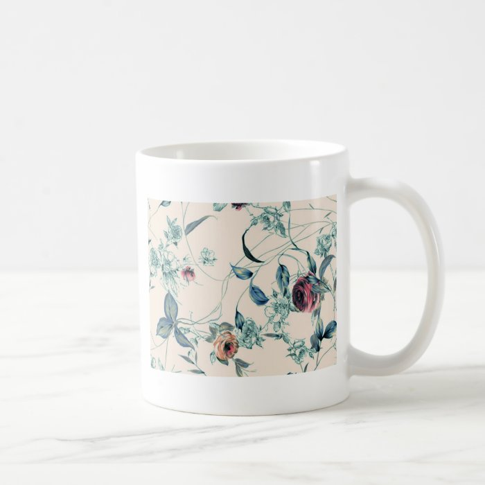 Roses and Leaves 3 Coffee Mug