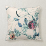 Roses and Leaves 3 Throw Pillow