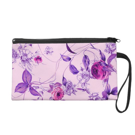 Roses and Leaves 4 Wristlet
