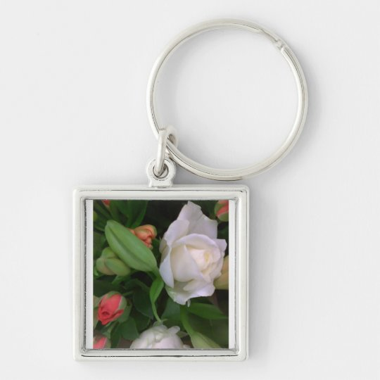 Roses and Lilies Keychain