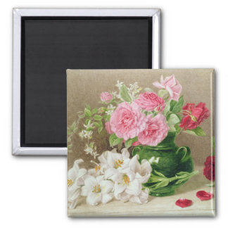Roses and Lilies Magnet