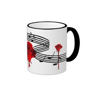 Roses and  Love Music Mugs
