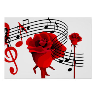 Roses and  Love Music Poster