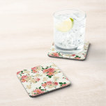 Roses and Magnolias Drink Coaster