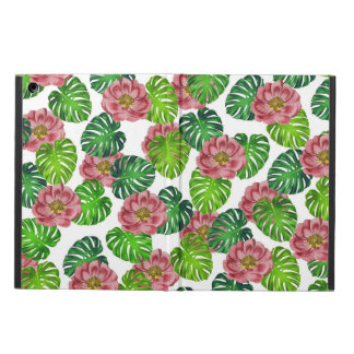 Roses And Monstera Leaf Pattern Case For iPad Air